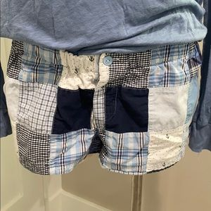 Aerie PJ Patchwork Sleep shorts Small Super cute!